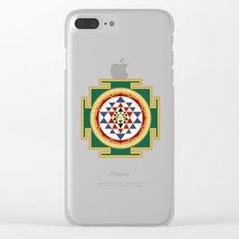 Sri Yantra colored Clear iPhone Case