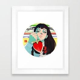 WAKAME'S LOVE Framed Art Print