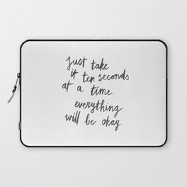 Ten Seconds At A Time Laptop Sleeve
