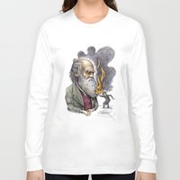 darwin Long Sleeve T-shirts featuring Darwin by ElenaTerrin
