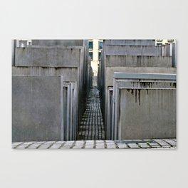 The Holocaust memorial at the Brandenburg Gate in Berlin Canvas Print