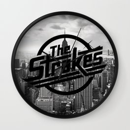 The Strokes Logo New York Black And White Wall Clock