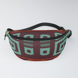 Latin American ethnic ornament, pattern, mosaic, embroidery. Fanny Pack