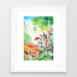 """Behind the tree"" Framed Art Print"