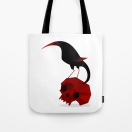 Bird and Skull Tote Bag