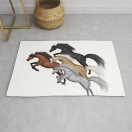 Jumping Horse Rug