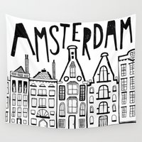 amsterdam Wall Tapestries featuring Amsterdam by Heather Dutton