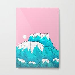 The blue frozen peaks Metal Print