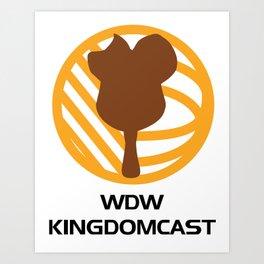 WDW Kingdomcast - Classic logo Art Print