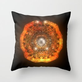 The Eye of Cyma: Fire and Ice - Frame 160 Throw Pillow
