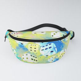 Abstract Dice Digital Art Fanny Pack