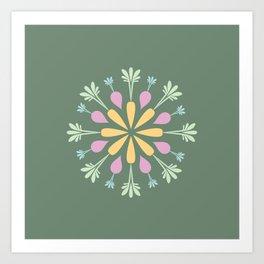 Vegetable Mandala Art Print