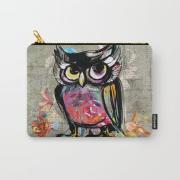 Colorful Wise Owl Carry-All Pouch