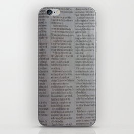 Newpaper iPhone Skin