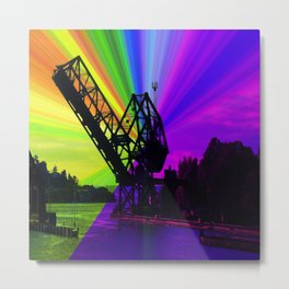 Ballard Locks Bridge Metal Print