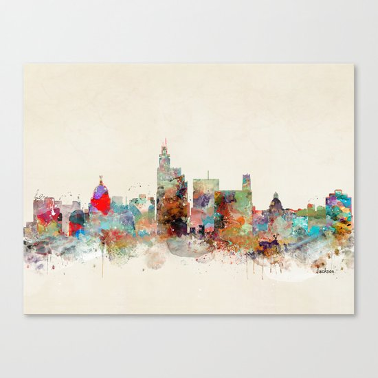 jackson mississippi skyline Canvas Print