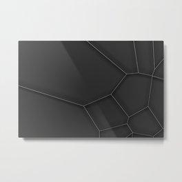Metal voronoi grate Metal Print
