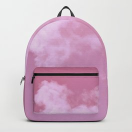 Floating cotton candy with pink Backpack