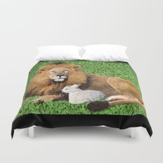 Lion and Lamb Duvet Cover