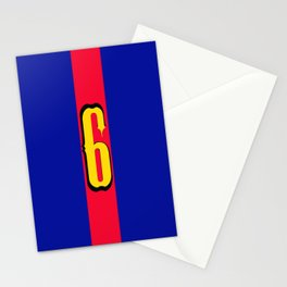 football team 1 number six Stationery Cards
