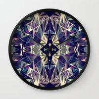 kaleidoscope Wall Clocks featuring Kaleidoscope by QUEQZZ
