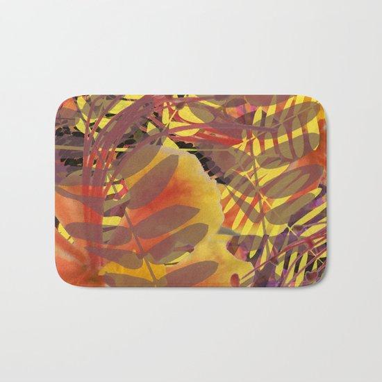 Autumn Tropical Vibe Bath Mat