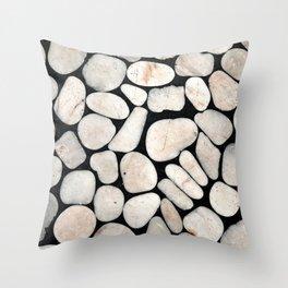 Light Stone Pattern Against Black Throw Pillow