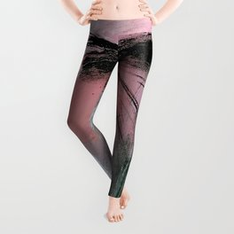 Train of thought [2]: a pretty abstract mixed media piece Leggings