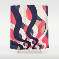 coral Shower Curtains featuring Coral by Raluca Ag