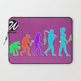 Woman Evolution of the Species to Tennis Player Laptop Sleeve