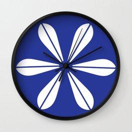 LOTUS MINIMAL - petrol. Wall Clock