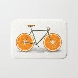 Zest (Orange Wheels) Bath Mat