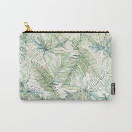 Green Tropical Leaves Carry-All Pouch