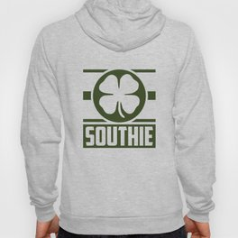 Southie Shamrok Boston City Clover St Patricks Day Hoody