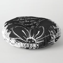 Percy Bysshe Shelley - Love's Philosophy Floor Pillow
