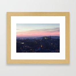 Edinburgh Castle at Sunset Framed Art Print