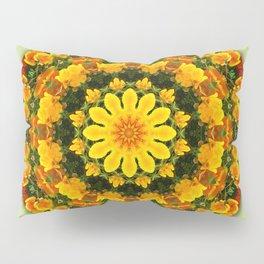 Floral mandala-style, California Poppies Pillow Sham