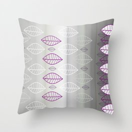 Purple leaves Alum Throw Pillow