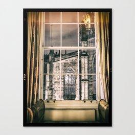 Night view on St giles cathedral Edinburgh Scotland Canvas Print