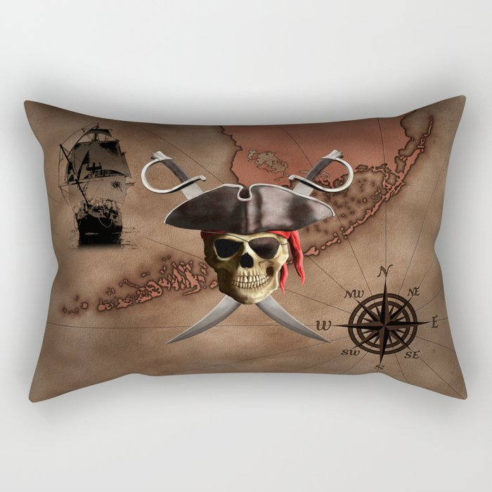 Pirate Map Rectangular Pillow