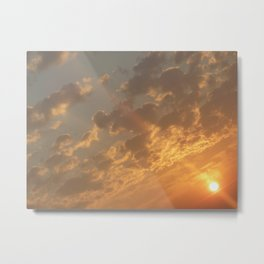 Sun in a corner Metal Print