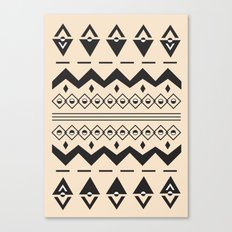 Peach Aztec Canvas Print