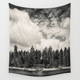 Far Away Clouds Passing By Wall Tapestry