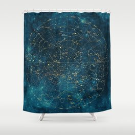 Under Constellations Shower Curtain