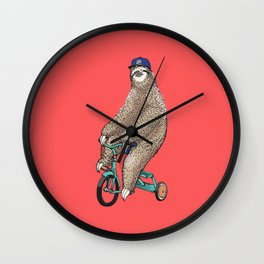 Haters Gonna Hate Sloth Wall Clock