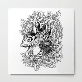 Garuda - BW Metal Print