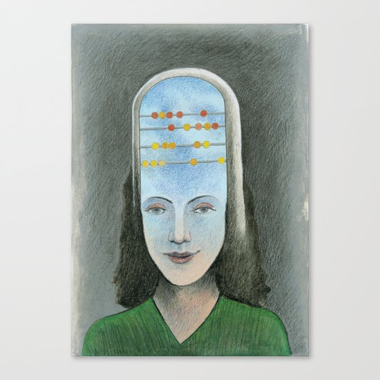 Counting head Canvas Print