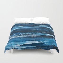 Blue Brush Strokes (Color) Duvet Cover