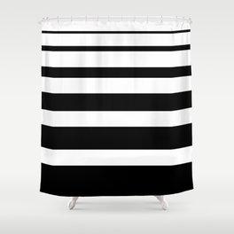 Stripes black Shower Curtain