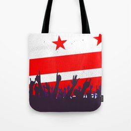 Washington DC Flag with Audience Tote Bag